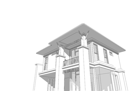 3d Architectural Oriental style