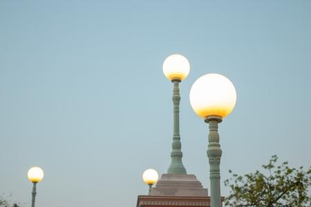 Street Light Night City Abstract  Stock Photo