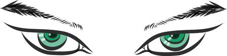 Green eye Vector