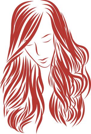 beautiful hair Vector