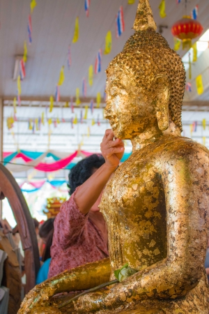 Buddha statue, Bangkok Thailand Stock Photo