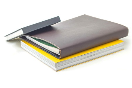 stack of books isolated on white 版權商用圖片