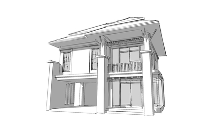 3D Arquitectura Sketch photo
