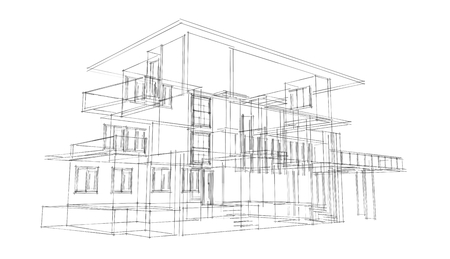 3D Architecture Sketch photo