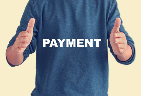 payable: payment quotes - Business man background-retro filter
