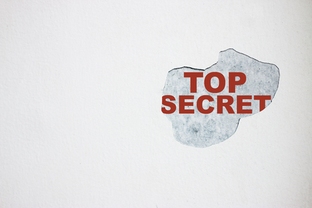 Top secret On the broken wall. 스톡 콘텐츠