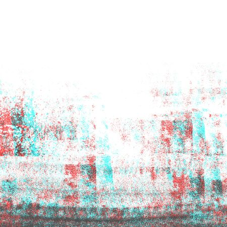 RGB glitch, color double exposure, Abstract grunge photocopy texture background  Stock Photo
