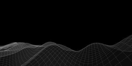 Concept of Network, internet communication, Big Data. Technology background. 3d illustration 版權商用圖片