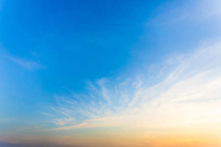 The sky is beautiful when the sun rises in the morning. Natural landscape background