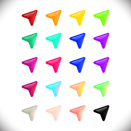 cursors: Set colorful modern cursors web icons design