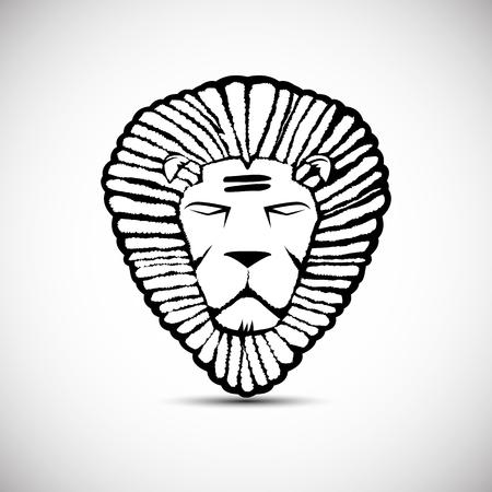 rastafarian: Lion logo vector design, rastafarian concept