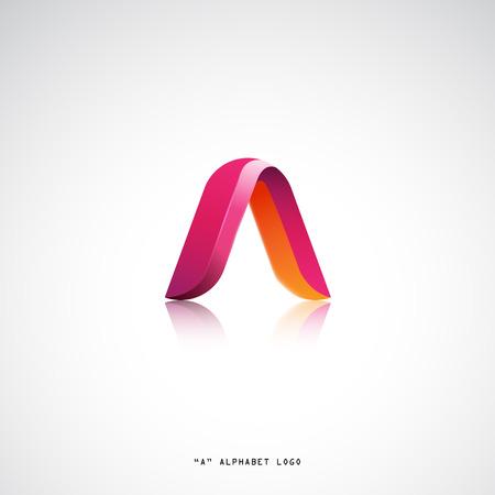 A letter alphabet business logo vector design. Modern flat style concept Иллюстрация