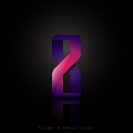 B, 2, 8, Letters alphabet concept business modern logo vector design 일러스트