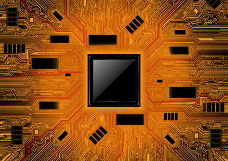 chipset: Technology abstract system background. Chipset concept vector design