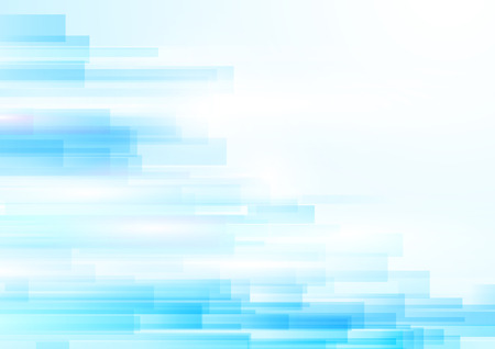 Blue abstract geometric shiny transparent motion technology concept background. Illustration