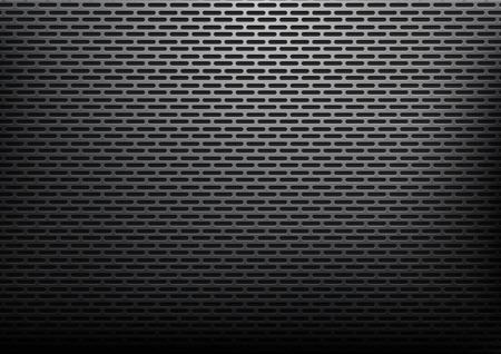 Abstracte zwarte rond gemaakte rechthoeken metaal, staalmaterialenachtergrond Stock Illustratie