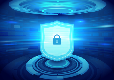 Internet security and technology concept and abstract background Illustration