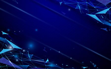 抽象的な未来的なポリゴンとライン技術のコンセプト背景
