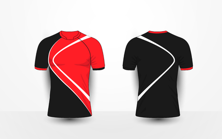 Black and red with white lines sport football kits jersey t shirt black and red with white lines sport football kits jersey t shirt design maxwellsz