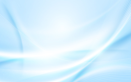 Abstract soft blue wavy with blurred light curved lines background