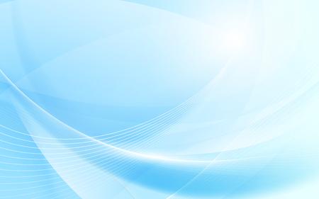 Abstrait bleu ondulé avec arrière-plan de lignes courbes lumière floue Vecteurs