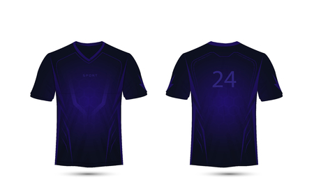 Dark purple lines layout. Technology concept. football sport t-shirt, kits, jersey, shirt design template.