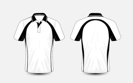Witte en zwarte lay-out e-sport t-shirt ontwerpsjabloon