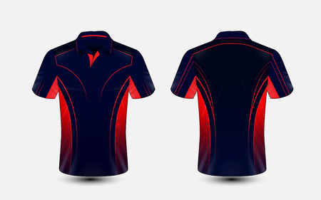 Blue and red layout e-sport t-shirt design template Stock Illustratie