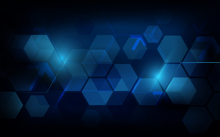 Abstract dark blue geometric hexagon Futuristic concept background Zdjęcie Seryjne - 110508683