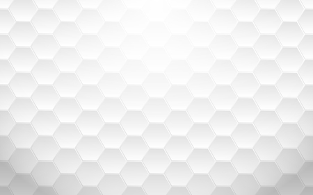 Abstract white geometric hexagon background Illusztráció
