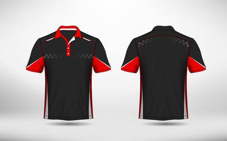 Rood, zwart en wit lay-out e-sport t-shirt ontwerpsjabloon Vector Illustratie