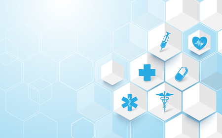 Abstract geometric modern background. Medicine and science concept background Illustration