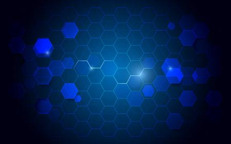 Abstract technology hexagons digital hi tech concept background Stock Vector - 127269601