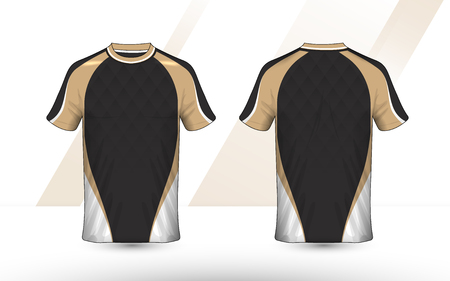 Gold, Black and white layout e-sport t-shirt design template