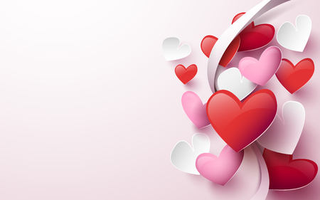 Happy Valentines day. abstract hearts background Illustration