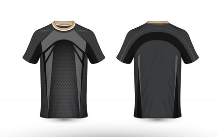 Black and grey layout e-sport t-shirt design template