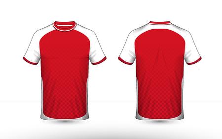 Rode en witte lay-out e-sport t-shirt ontwerpsjabloon