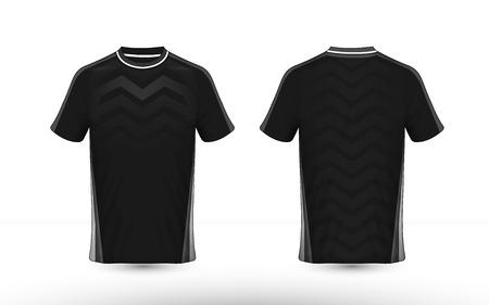 Plantilla de diseño de camiseta e-sport en blanco y negro