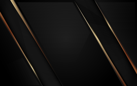 Abstract Luxury black and gold background