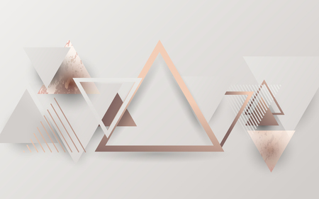 Abstract modern triangles trendy. Retro and minimal style texture