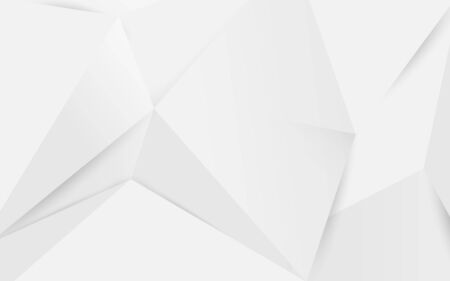 Abstract white geometric polygonal 3D background. Vector Illustration