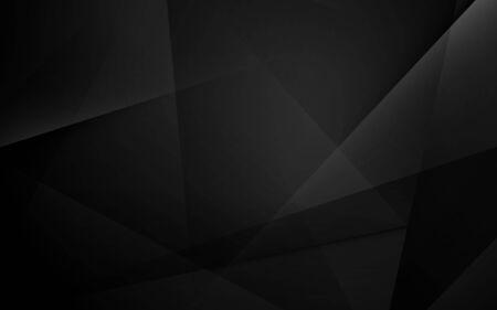 Streszczenie czarne geometryczne dynamiczne tło prezentacji Ilustracje wektorowe