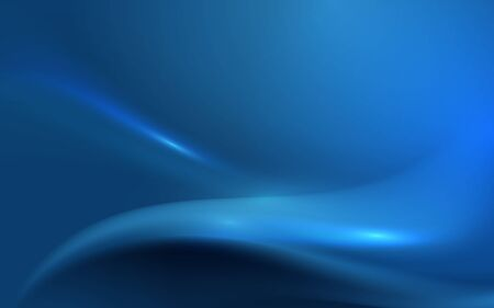 Abstract blue wavy with blurred light curved lines background. Technology futuristic concept
