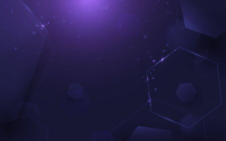 Abstract technology digital hi tech concept background. Abstract purple geometric