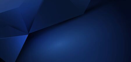 Abstract luxury blue polygonal background. Space for your design