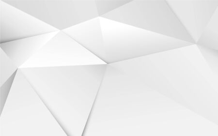 Abstract 3D geometric white polygon and triangles background