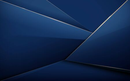 Abstract polygonal pattern background. Luxury blue and gold 일러스트