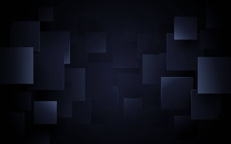 Creative abstract geometric pattern dark blue background Ilustrace