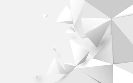 Abstract white 3d low polygonal background. Vector illustration 일러스트
