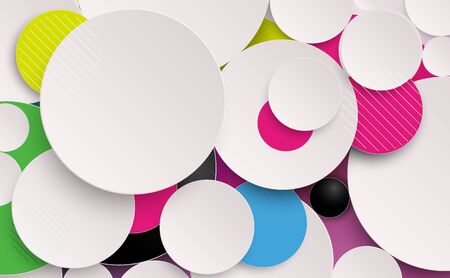 Abstract colorful circles composition and minimal geometric background. Vector illustration Ilustrace
